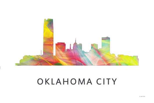 oklahoma_city_wb1.jpg from the U.S. Skylines collection by Marlene Watson Art