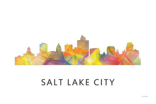 salt_lake_city_wb-1.jpg from the U.S. Skylines collection by Marlene Watson Art