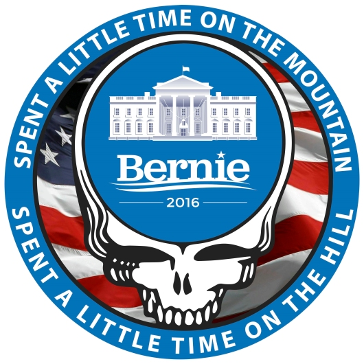 Bernie Sanders Grateful Dead Poster from the Astropixel NYC collection by MyHouseCulture.com