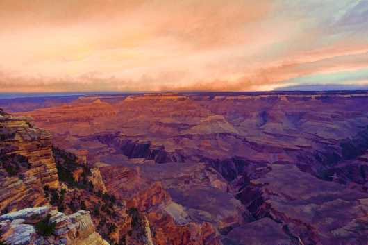 Grand Canyon oil paint from the Landscapes collection by Richard Milligan