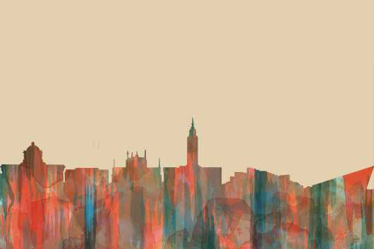 kingston_upon_hull_skyline-navaho.jpg from the Rest of World Skylines collection by Marlene Watson Art