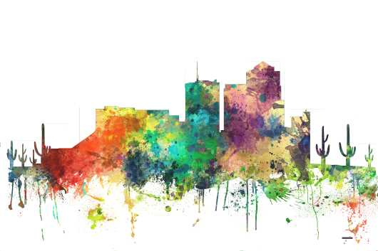 tucson_arizona-sp.png from the U.S. Skylines collection by Marlene Watson Art