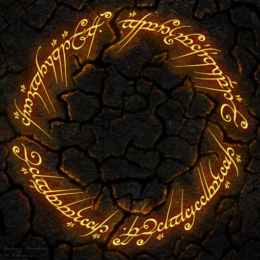 Lord of the Rings Digital Drawing from the Digital Art collection by Mr. Bubbles Design
