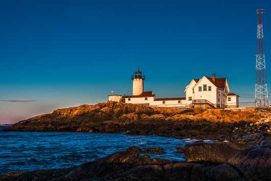 Eastern Point Lighthouse Sunrise from the Lighthouses collection by TJ Walsh Photography