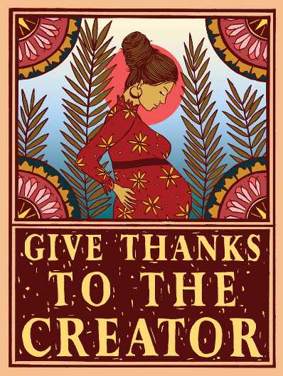 Give Thanks to the Creator from the A Day Without A Woman collection by Shepard Fairey