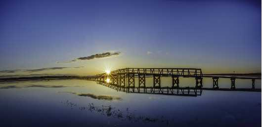 Boardwalk blue 2x3 Crop.jpg from the Sunrise/Sunset Photos collection by TJ Walsh Photography